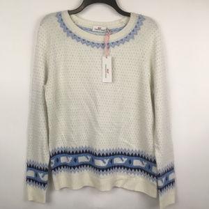 VINEYARD VINES Womens sz M Whale Isle Sweater